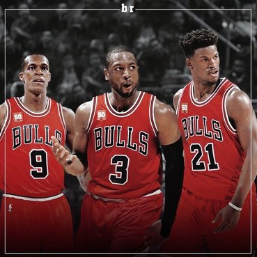 The Chicago Bulls Big 3 - Rajon Rondo, Dwyane Wade, and Jimmy Butler